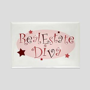 """Real Estate Diva"" [red] Rectangle Magnet"